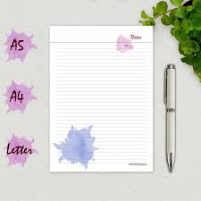 weekly dinner meal planner template notes page printable notes template notebook page a5 a4 zoom