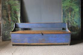 swedish country bench in original paint benches
