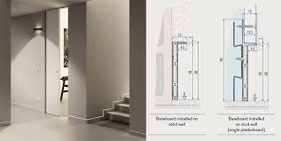 flush baseboard aluminium profiles for flush plinths