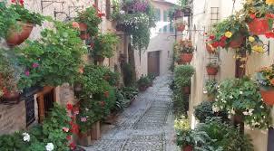 immagini di giardini fioriti giardini e angoli fioriti a spello pg i viaggi di tetto