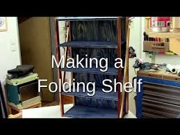 Folding Bookshelves - ᐉ how to make a folding shelf youtube