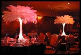 ostrich feather centerpiece rent ostrich feather centerpieces great gatsby wedding