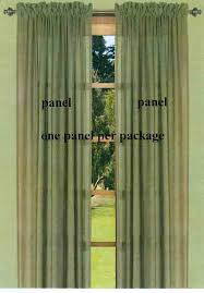 Sheer Panel Curtains Lucerne Semi Sheer Two Way Rod Pocket Curtain Panels