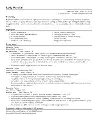 personal trainer resume personal resume template personal resume exles