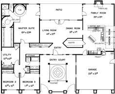 courtyard home plan when we build in mexico this is what i kinda