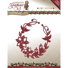 find it trading design die greetings ornament wreath