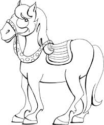 modest horse coloring pictures kids book 1874 unknown