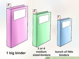 how to organize your binder for 14 steps with pictures