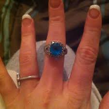 size 9 ring best blue ring on middle finger size 9 or 10 10 for sale in