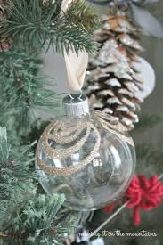 handmade glittery clear glass ornaments monthly diy challenge