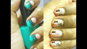 nailart simple u0026cute nail art design 2 different nail design