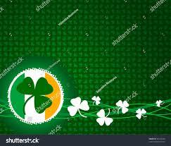 Shamrock Green Green Background Shamrock Irish Flag Stock Illustration 48129256