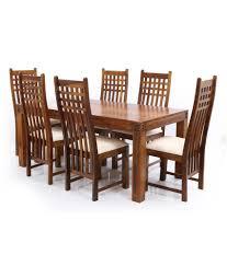ethnic india art nia sheesham wood 6 seater dining set buy