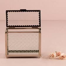 Wedding Wishing Box Decorative Glass Box With Mirror Base Wishing Well Wedding