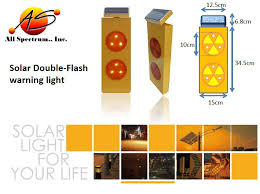 solar powered flashing yellow light solar power road safety signs traffic warning sign strobe light