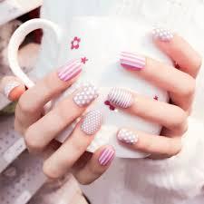 yunail 24pcs cute granny grey fake nails candy owl short candy
