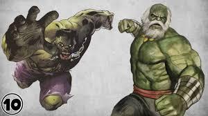 10 alternate versions hulk