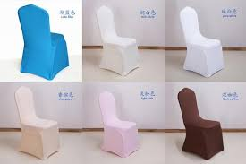 party chair covers 10 pcs universal slipcovers white stretch spandex for wedding