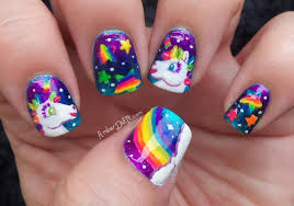 amber did it lisa frank nail art