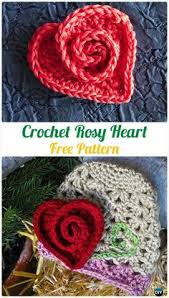 Crochet Heart Rug Pattern Free How To Crochet Very Easy Sweet Heart Applique Step By Step