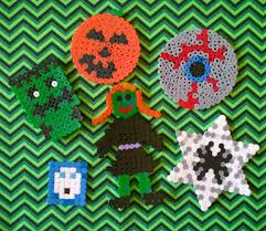 mini obsesivcreativ u0027s halloween hama bead decorations obsesivcreativ