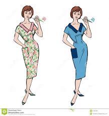 fashion dressed girls 1950s 1960s style stock photography image
