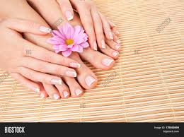for beautiful woman skin and nails pedicure and manicure at