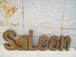 Decorative Wall Art by Rusty Metal Saloon 3d Sign Decorative Wall Art