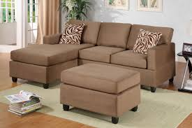 Sectional Couch With Ottoman by All In One Microfiber Plush Sectional Sofa With Ottoman Saddle