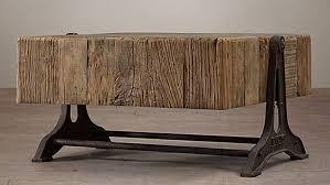 restoration hardware sofa table restoration hardware reclaimed russian pine industrial coffee