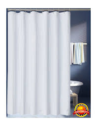 amazon com lanmeng solid white fabric shower curtain liner extra