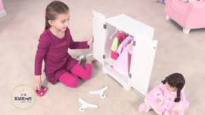 kidkraft lil doll armoire 60132 youtube