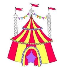 doodle circus tent royalty free vector image vectorstock