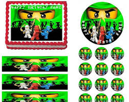 ninjago party supplies ninjago edible cake topper image ninjago by ediblepartyimages