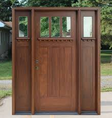 Exterior Door With Side Lights Mahogany Exterior Doors With Sidelights And Transoms 68