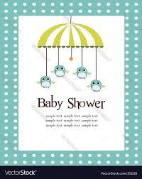 baby shower card royalty free vector image vectorstock