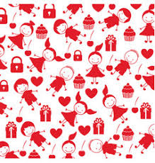 kids wrapping paper happy wrapping paper design background for kids vector image