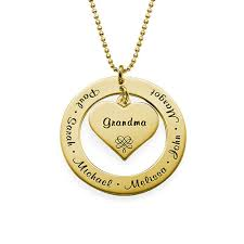 grandmother jewelry grandmother necklace with names gold plated mynamenecklace