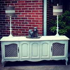 Quilt Storage Cabinets Repurposed Shabby Chic French Provincial Radio Console Turned
