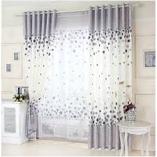 rideau de cuisine et gris gris imprimé rideau mur conception tissu rideaux fleur ornement