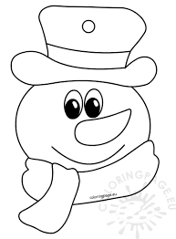 coloring book for children snowman coloring page