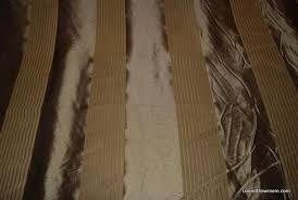 Striped Drapery Fabric Luxurious Antique Gold Faux Taffeta With Velvet Stripe Bronze Gold