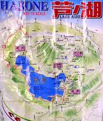 Skyline Drive Map Lake Ashi In Japan