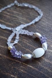 purple gemstone necklace images Amethyst necklace purple gemstone necklace baroque pearl jpg