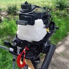tohatsu 4 stroke 6hp outboard motor tiller handle seamax marine