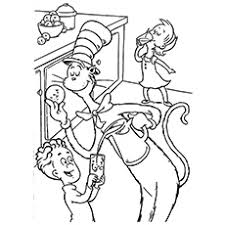 20 free printable cat hat coloring pages