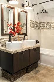 Subway Tile Backsplash Bathroom - red glass subway tile backsplash bathrooms design bathroom subway