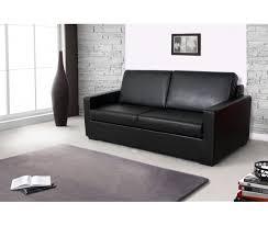 meublez com canapé canapé convertible pas cher en simili cuir noir canapé