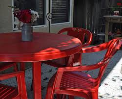 Buy Plastic Garden Chairs by Patio Furniture Makeover I U0027m In Love With Spray Paint The