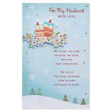 card for husband american greetings owls christmas card for husband with foil